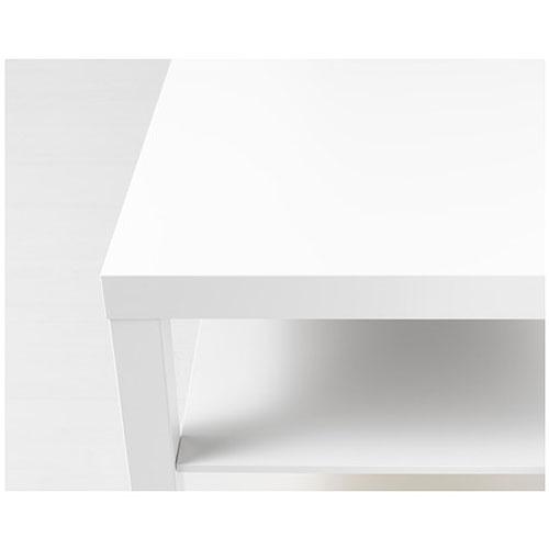 mesa baja lacada en blanco